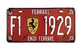 Ferrari F1-1929 Vintage Auto License Plate, Embossed Tag Size 6