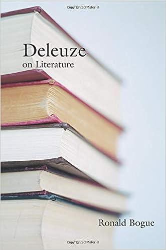 deleuze on literature bogue ronald