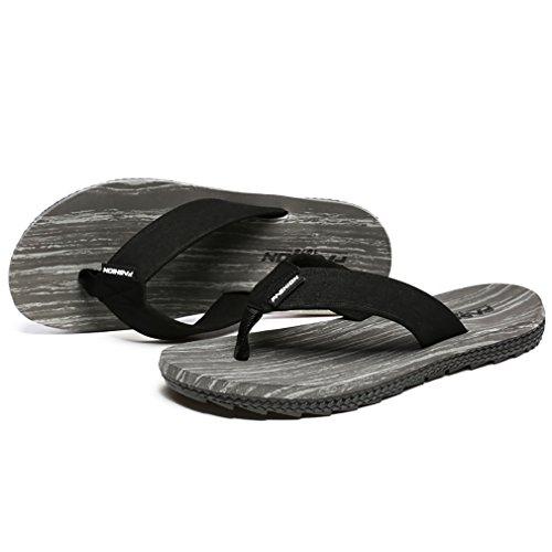 HQUEC Mens Beach Flip-Flops Comfortable Pool Sandals Casual Slippers