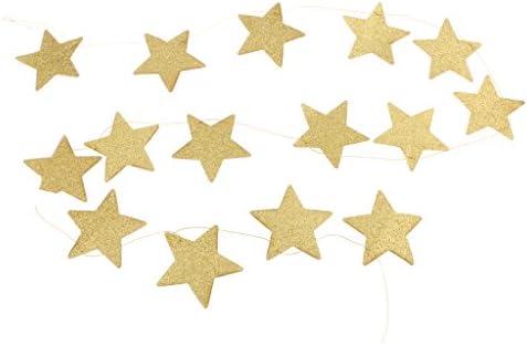 約2m キラキラ 輝き 星 飾り 豪華 クリスマス ギフト パーティー デコレーション 装飾 ファッション ゴールド