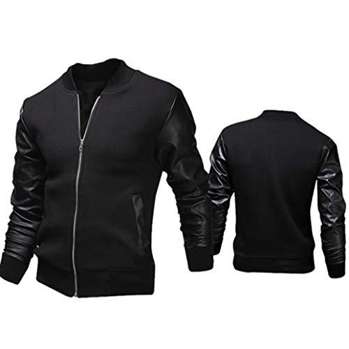 Noir Automne Casual Magiyard Slim Hommes Collar De Vestes Hiver Veste Mode 5xXTXwqvPO