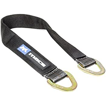 WorldPac 10,000b Load Capacity 36 Tied Down Axle Straps with Protective Sleeve and Delta Ring Pack of 2
