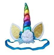 Fascinators Headband hairpiece hair Cosplay Costume Felt Retro Rainbow Adult Kid Girl Boy Unicorn Cat Ears Flower