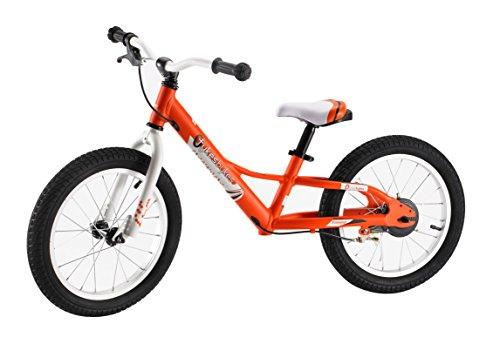 Best price for Tykesbykes Charger Kids Balance Bike, 16″ Wheel, Orange