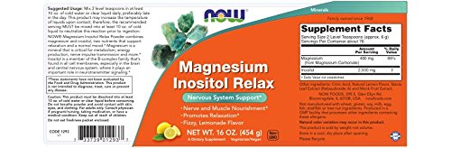 Now Supplements, Magnesium Inositol Relax, 16-Ounce