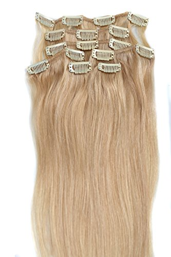Clip Hair Extension,Grammy 20 Inch 7pcs Remy Clips in Human Hair Extensions 70g with Clips for Highlight(#24 Light Honey Blonde)