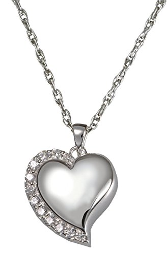 Memorial Gallery 3806gp Pink Shine Heart Pink Stones 14K Gold/Silver Plating Cremation Pet Jewelry