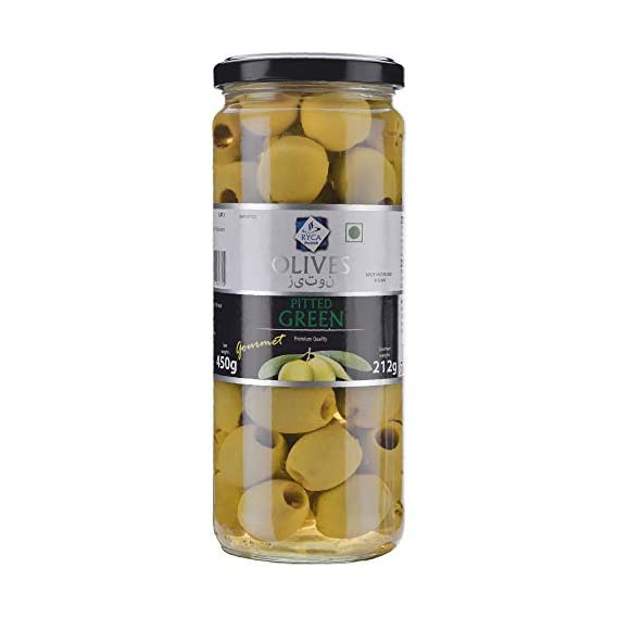 Ryca Pitted Green Olives 450gm