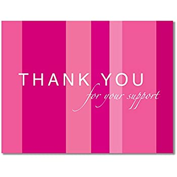 b3c80dc8fb2 10 Breast Cancer Support, Pink Ribbon Thank You Cards, Recycled - For  Breast Cancer