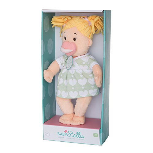 41DWQP0L0oL - Manhattan Toy Baby Stella Blonde Soft First Baby Doll for Ages 1 Year and Up, 15""