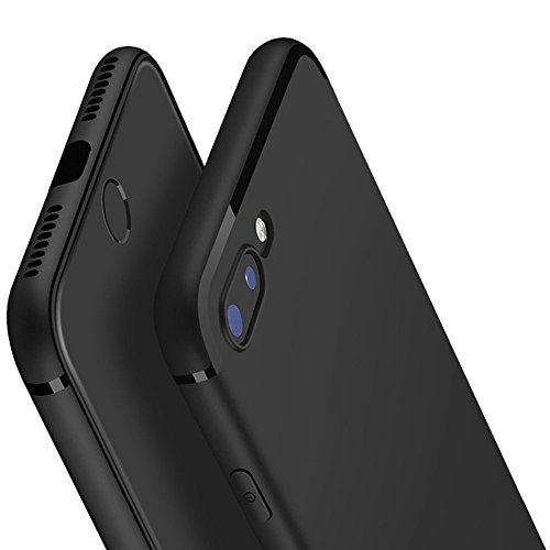 Yoyamo iPhone 7 Plus/8 Plus Slim Fit Shell Hard Plastic Soft Feeling Full Protective Anti-Scratch Case for Apple iPhone 7 Plus iPhone 8 Plus (Black)