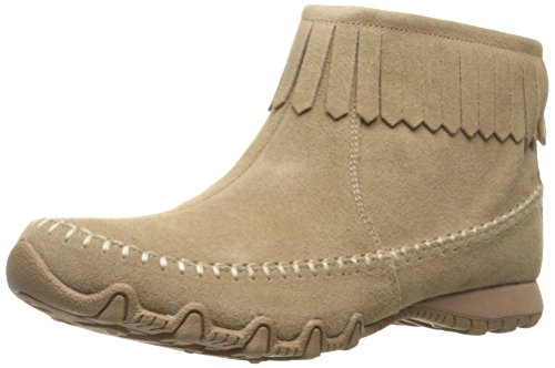 Skechers Women's Bikers-Indian Summer Ankle Bootie, Taupe, 8.5 M US by Skechers