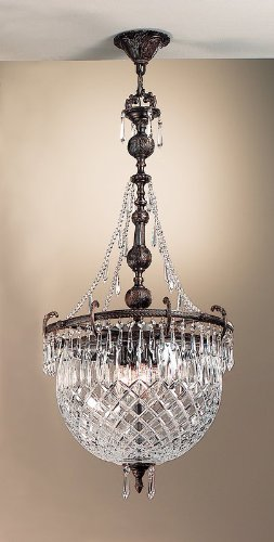 Classic Lighting 55534 OX CP Waterbury, Cast Brass and Lead Crystal, Light Pendant, 17