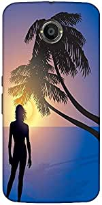 Snoogg Tropical Sunrise Designer Protective Back Case Cover For Google Nexus 6