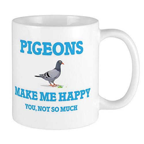 (Photo Travel Mug Pigeons Make Me Happy Mug Ceramic 11oz Coffee/Tea Cup Gift Stainless Steel Coffee Mug By Ugtell)