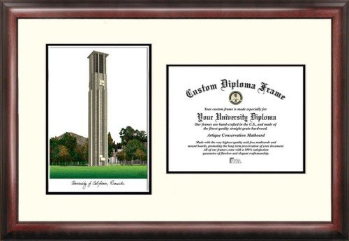 University of California, Riverside Scholar Framed Lithograph with Diploma