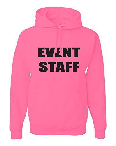 CheapAssTees Event Staff Graphic Clothing - Hoody - Pink - X-Large
