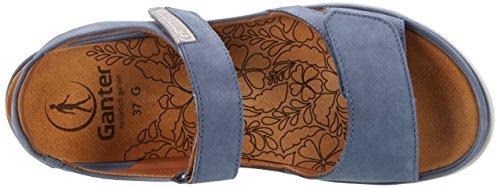 Ganter Ladies Sandali Gina-g Blu (jeans / Pietra)