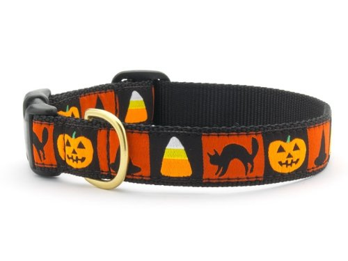 Halloween Motif Dog Collar by Up Country (Large: Collar Size 15