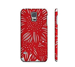 Specialdiy Alcorta Red White Samsung Galaxy S5 xl56mVp3djY cell phone case cover Flowers Botanical