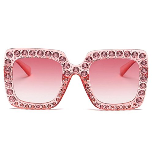 Femmes Carre Lunettes de Lunettes Soleil B de Diamond Mode Vacance Design pour gB6pwqndB