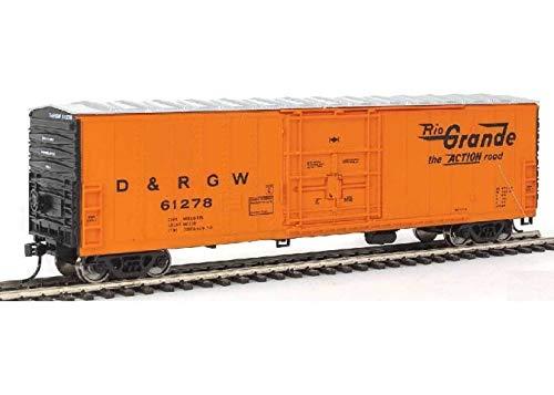 50' FGE Insulated Boxcar - Ready to Run - Denver & Rio Grande Western(TM) 61395 (orange, black, Large Flying Grande)