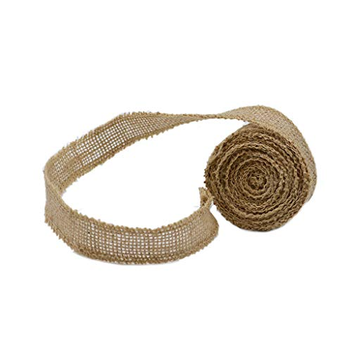 XeminorDIY Natural Jute Burlap Fabric Jute Roll Craft Burlap Ribbon for DIY Handmade Wedding Party Crafts Use 1 Roll 3M by Xeminor (Image #9)