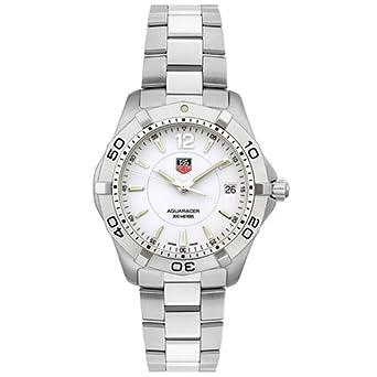 6100fbbb750 Amazon.com  TAG Heuer Men s WAF1111.BA0801 White Aquaracer Watch ...