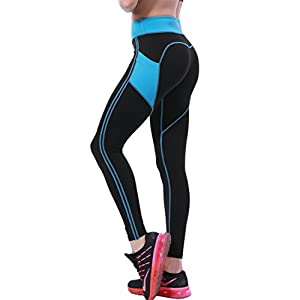 3c02ffcc8cbff7 OVESPORT Women's Yoga Pants with Pockets High Waist Active Workout Leggings  for Running Sports Fitness Gym