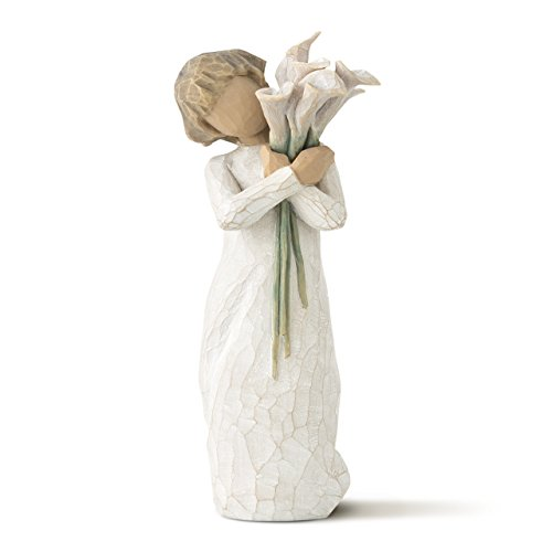 Willow Tree Beautiful Wishes, sculpted hand-painted figure (Lilies Delivery Calla)