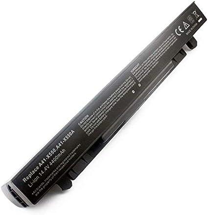 A41-X550A Batería para ASUS X550CA X550LB A450 A550 F450 F550 F550C F550L F552 F552C F552CL K550 K550C X450 X552 X552EA FX50JK F550C R510CA X550V Ordenador [6 Celdas, 4400mAh 14.4V ]-1 año Garantía: