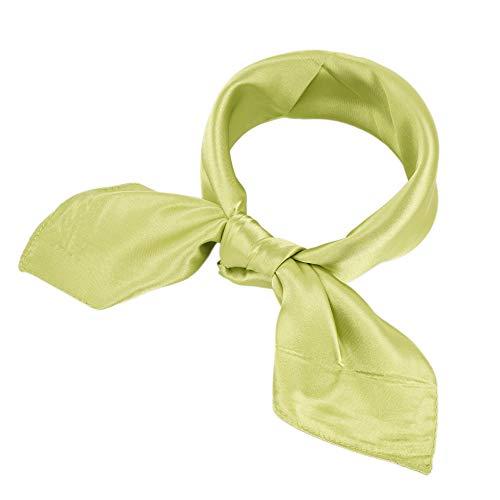 YOUR SMILE 100% Silk Scarf Women's Fashion Pattern Large Square Satin Headscarf Headdress 24''x24'' (309)