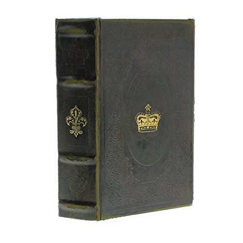 HomArt Faux Leather Royal Embossed Book Box