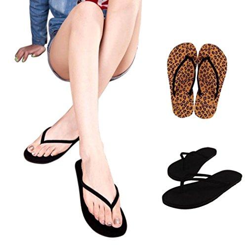 Omiky® Frauen Sommer Flip Flops Schuhe Sandalen Slipper Indoor & Outdoor Flip-Flops Kaffee