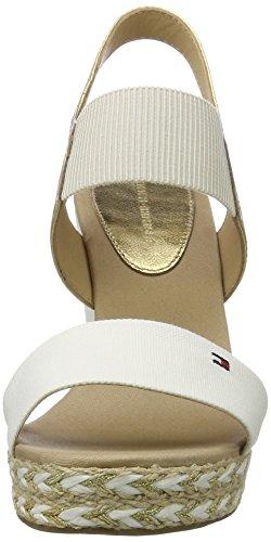 44c2 Sandalias Mujer gold Hilfiger Whisper E1285lena Tommy para 901 Blanco Cuña White con qxwOEn4t