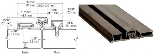 Dark Bronze 200 Series Standard Duty 83'' Full Surface Continuous Hinge by CR Laurence