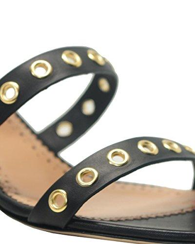 Nero 06 Set Sandalo Pelle In Cs8tac Twin wxFAUq11