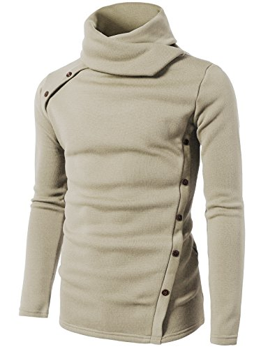 H2H-Mens-Casual-Slim-Fit-Button-Point-Knitted-Pullover-Sweaters
