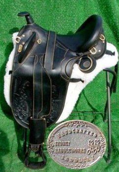 Stockrider Black 18″ Australian Saddle – by Sydney Saddleworks