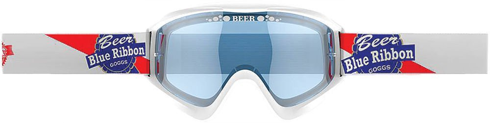 Beer Optics unisex-adult Dry Goggle (Beer (Pbrb White), Adult), 1 Pack