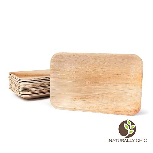Naturally Chic Palm Leaf Biodegradable Plates | 9 x 6