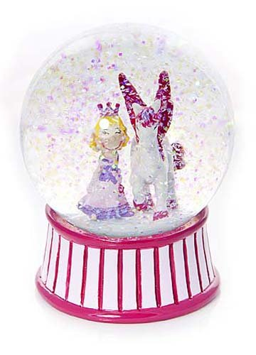 Mousehouse Gifts Palla di neve con principessa rosa e Unicorno per bambini Regalo per bambine