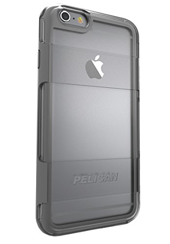 Pelican Adventurer Case for Apple iPhone 6 Plus/6s Plus - Retail Packaging - Clear/Grey