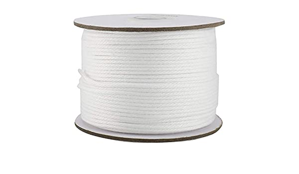 Yaegoo Twisted Polyester Rope Length 328FT Diameter 3mm 4mm 5mm 6mm 10mm Low Stretch High Strength Dacron Rope White 4mm