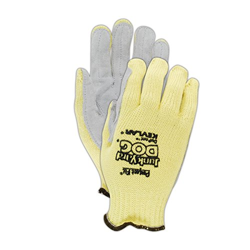 Honeywell Hand Protection KV18A-100-50 Junk Yard Dog Gloves, Men's, Yellow (Pack of 12)