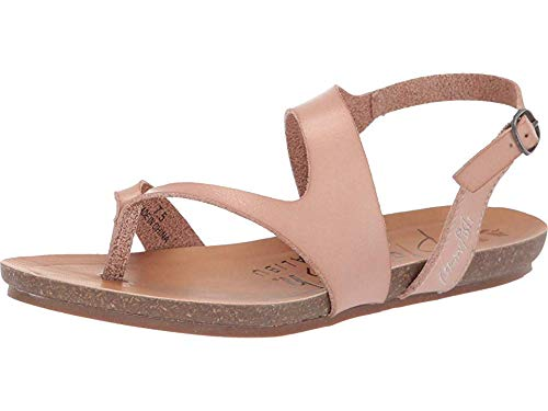 Blowfish Malibu Womens Grizz Sandals, Blush Dyecut Faux Leather, 8
