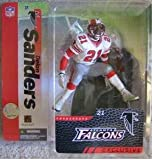 McFarlane Toys NFL Sports Picks 2006 Collectors Club Exclusive Action Figure Deion Sanders (Atlanta Falcons) White Jersey