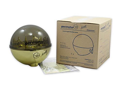 GermStar 12111GD Dispenser Globe , Gold / Smoke by Germstar (Image #2)