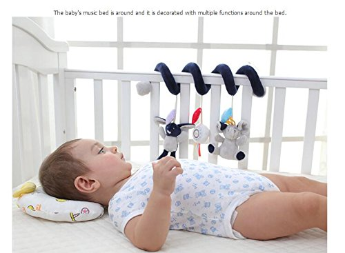 Royarebar Baby Toddler Toys Bear Doll Pram Toy Hanging Toy Activity Spiral Bed & Stroller Toy