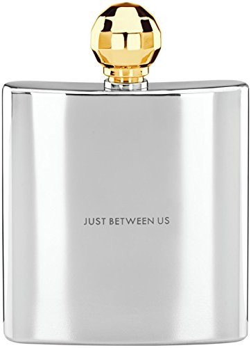 Kate Spade New York Two of a Kind Gold Faceted Flask by - Flask Plated Silver